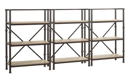 Durham LB-DUR-K-BS44X3 Bookcase Wall Set with Three 44