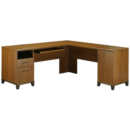 PR67310K Achieve Collection L-shaped Computer Desk With File Drawer in Warm Oak