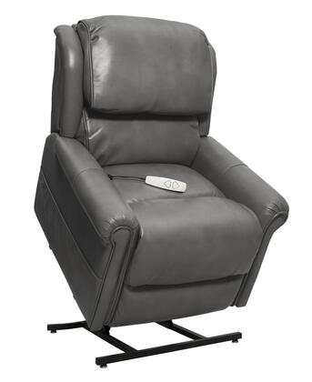 Uptown NM2350-BSL-A0A 34 inch  Power Recliner Lift Chair with 3-Position Mechanism  Split Back Design and Chaise Pad in