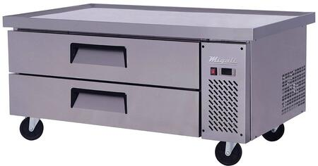 C-CB52-60 60 inch  Competitor Series Refrigerated Chef Base with 2 Drawers  Stainless Steel Constructions  and Casters  in Stainless