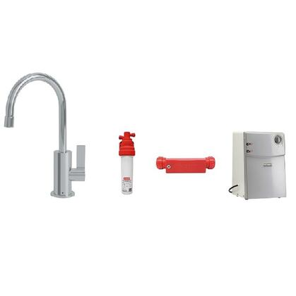 DW10000-100-CT Water Filtration System with DW10000C Ambient Little Butler Cold Water Filtered Faucet in Polished Chrome  FRCNSTR100 Filter Canister  FM100