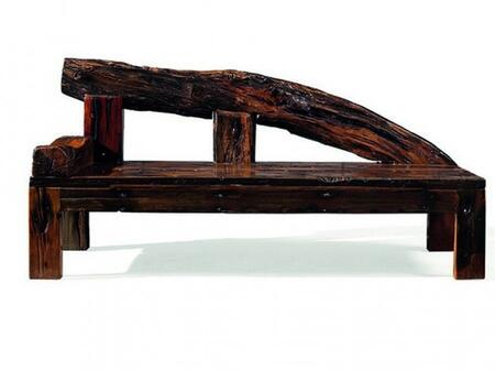 DS-A02 Merope Chaise Lounge with Acacia and Robinia Wood Construction in Rustic