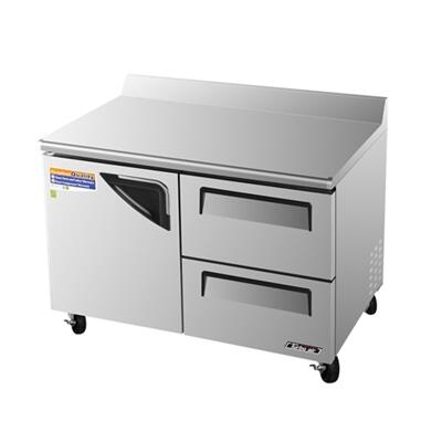 TWF48SDD2 12 cu. ft. Super Deluxe Series Worktop Freezer with Efficient Refrigeration System  Hot Gas Condensate System  High Density PU Insulation and