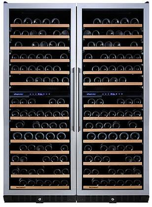 237870287 N'FINITY PRO Double LX Wine Cellar with 374 Wine Bottles Capacity  Cool Blue LED Lighting  Digital Climate Control  Odor Free  and UV Protected  in
