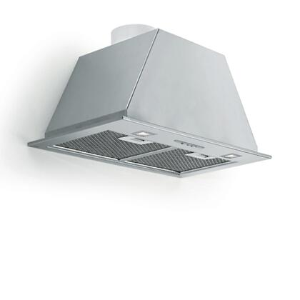 FIMAR28B6SS 28 inch  Insert Collection Mara Wall Mount Insert with 600 CFM  4 Speed Slider Control  Design Filters  Halogen Lighting and Ducted in Stainless