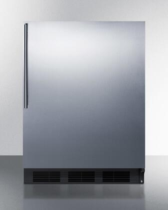 BI541BSSHV 24 inch  Dual Evaporator Undercounter Compact Refrigerator with 5.1 cu. ft. Capacity  2 Adjustable Glass Shelves  Cycle Defrost  and Adjustable