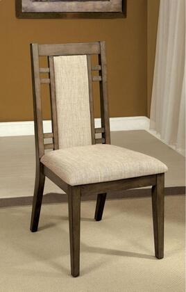 Eris I Collection CM3213SC-2PK Set of 2 Modern Style Side Chair with Tapering Frame and Padded Fabric in Weathered