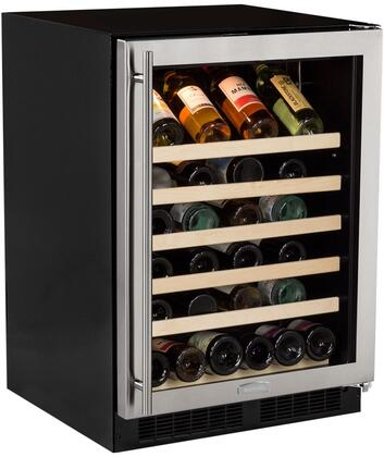 "ML24WSG0RS 24"" Single Zone Standard Efficiency Wine Cooler with 6.4  cu. ft. Capacity or 45 Bottle Capacity  Dynamic Cooling Technology  Vibration"