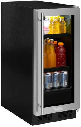 Marvel ML15BCG2RS 15 Beverage Center, stainless steel frame glass door, right hinge