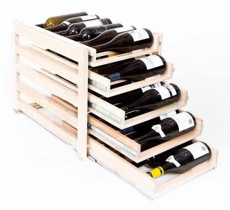WLMAPLE30 Maple In-cabinet Wine Rack with High Quality Solid Wood Construction Horizontal Design  Full Extension  Ball-bearing Slides and Darkened Storage for