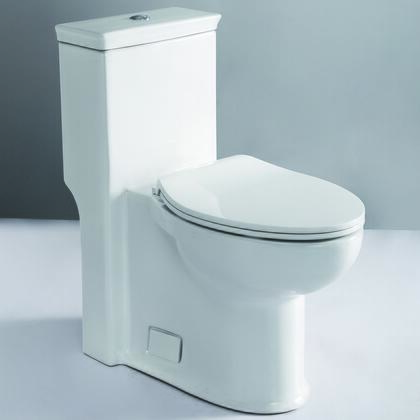 "TB377 Ada Compliant One Piece Single Flush Toilet with Porcelain  Symphonic Flush System  Balanced Water Distribution  Powerful and Efficient 3"" Flushing Valve"