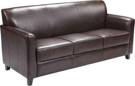 BT-827-3-BN-GG HERCULES Diplomat Series Brown Leather