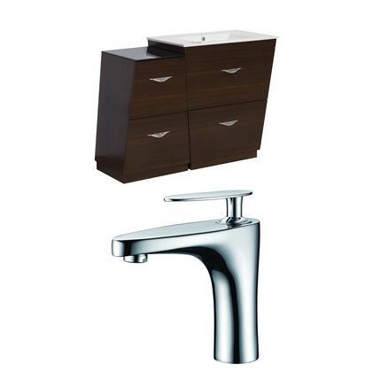 AI-9241 Plywood-Melamine Vanity Set In Wenge With Single Hole CUPC