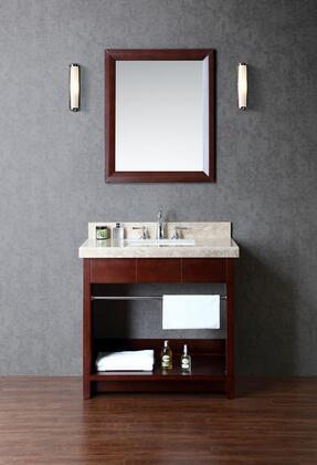 SCSEA36SWA Seabrook 36 Single-Sink Bathroom Vanity Set with Marble Top and Bottom Shelf in