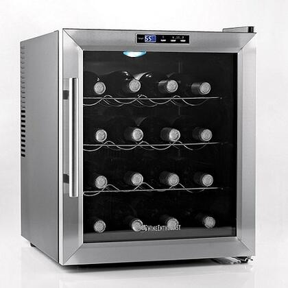 02720227 17 inch  Silent Bottle Wine Cooler with 16 Wine Bottles Capacity  Silent Cooling Technology  Push Button Control  and Stainless Steel Trim Door  in