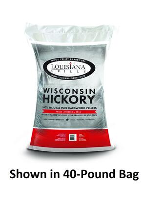 55206 20-Pound Bag Wisconsin Hickory Wood