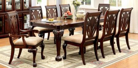 Petersburg I Collection CM3185T6SC2AC 9-Piece Dining Room Set with Rectangular Table  6 Side Chairs and 2 Arm Chairs in Cherry