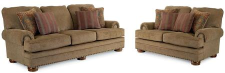 Cooper Collection 732131721SL 2-Piece Living Room Set with Sofa and Loveseat in Applause