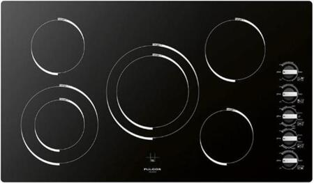 "F3RK36B2 36"" Frameless Smoothtop Electric Cooktop with 5 FulLight Radiant Elements  2 Double Zones  Hot Surface Indicator  Residual Heat Indicator and 5 Knobs"
