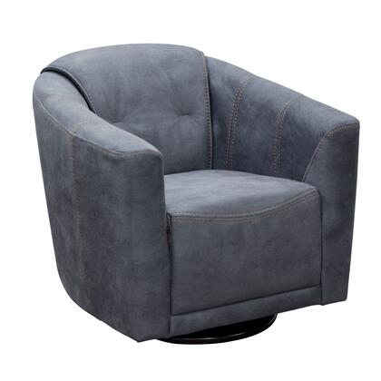 """Murphy_MURPHYCHGR_33""""_Accent_Chair_with_Light_Grey_Fabric__360-Degree_Swivel_and_Contoured_Seat"""