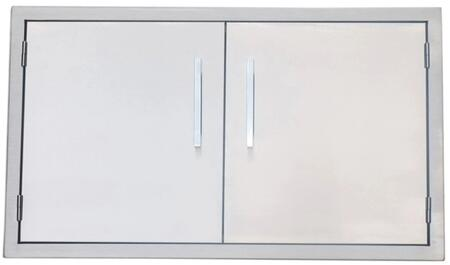BA-DD36 Signature Series 36 inch  Belved Frame Double Access Doors in Stainless
