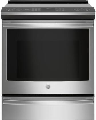GE 5.3 Cu. Ft. Slide-In Electric Induction Convection Range Stainless steel/gray PHS930SLSS