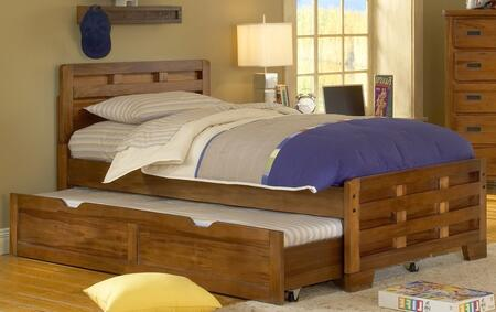 Heartland 1800-46CPB-TRN Full Captain's Bed with Wood Veneer Construction  Sand Break Edging and Radius Corners in Spice