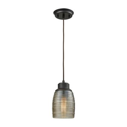 462161_Muncie_1_Light_Pendant_in_Oil_Rubbed_Bronze_with_Champagne_Plated_Spun