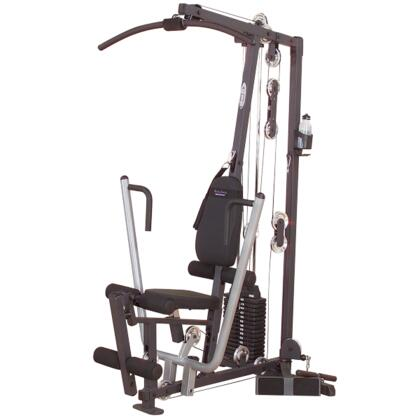 G-Series G1S Selectorized Home Gym with Lat Bar  Straight Bar  and Utility Strap  Up to 160 lbs. of