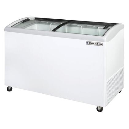 NC51-1-W Curved Lid Display Freezer/Novelty Case in White  10.9 Cu.