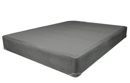 Jade Collection 29103 7 inch  California King Size Mattress Foundation is Made in the USA in Grey