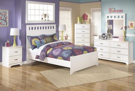 Lulu Full Bedroom Set with Panel Bed  Dresser  Mirror and Nightstand in