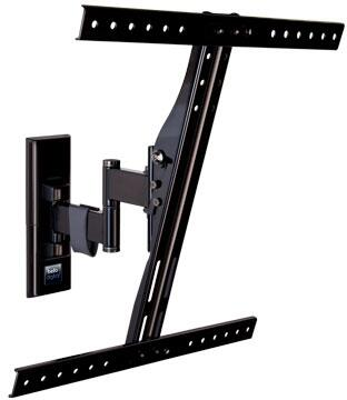 Digital 7834B 19 inch  Tilt/Pan ARTG Arm Mount With Steel Construction  CMS Cable Management  and Mounting Hardware Kit in Piano