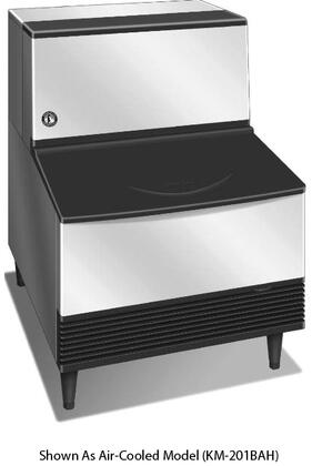 "KM-260BWH 30"" Undercounter Self-Contained Ice Maker With 268 lbs. Daily Ice Production  100 lbs. Ice Storage  Crescent Ice Cubes  Water Condenser  And"