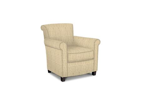 Roosevelt Collection 1148-02/BE104-1 31 inch  Accent Chair with Fabric Upholstery  Rolled Tight Back  Welted Sock Arms and Contemporary Style in Woven Geometric Old
