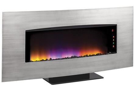 34HF601ARA-A004 Transcendence Wall Hanging Electric Fireplace with Touch Screen Function Indicator  Digital Thermostat and LED Ribbonless Flame Effect in