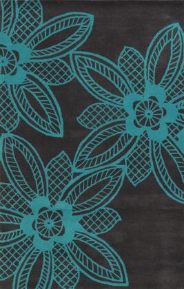 Bbdbd8861tq000203 Bradberry Downs Bd8861-2 X 3 Hand-tufted 100% Premium Blended Wool Rug In Dark Gray  Rectangle