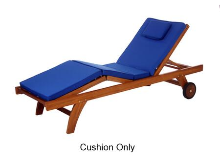 "TC70B 75"" Chaise Lounger Cushion with Hi-Density Foam  Soft-Faced Cotton Canvas and Tie Downs in"
