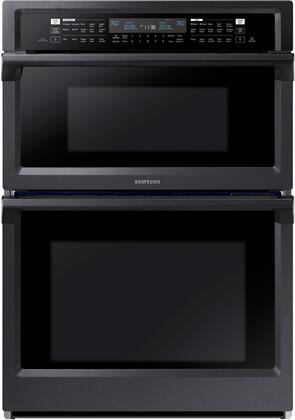 Samsung NQ70M6650DG 30 Fingerprint Resistant Black Stainless Steel Built-In Combination Microwave Wall Oven