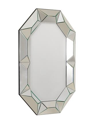 "Temptation Ariel Collection VGWCTEM-8ZJ002 34"""" x 48"""" Mirror with Murano Style and Piano Baking Gloss Finish in"" 438564"