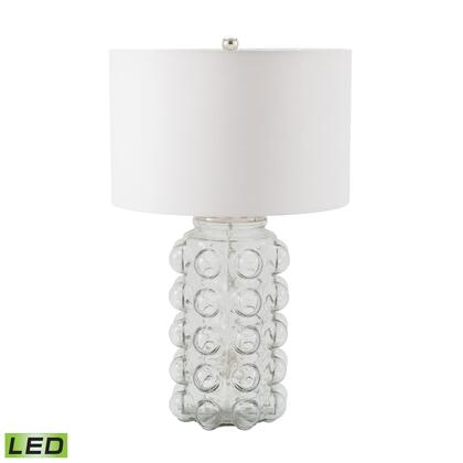 983-005-LED Bubble LED Table Lamp in Clear Glass With Off White