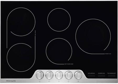 Frigidaire Professional FPEC3077RF 30 Inch Electric Cooktop, Ceramic Glass 5-Burner Flat Range with Stainless Steel Trim