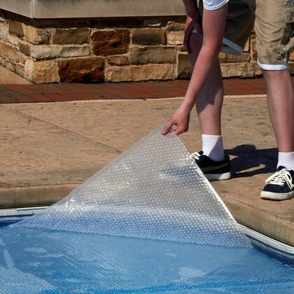 NS550 14-mil Solar Blanket for Rectangular 30-ft x 50-ft In-Ground Pools -