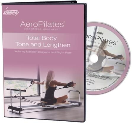 AeroPilates Collection 05-9135D with Total Body Tone and Lengthen DVD with 3 Workouts on 1
