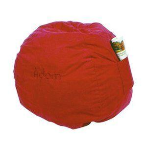 41232P Large Beanbag Red Micro Suede -