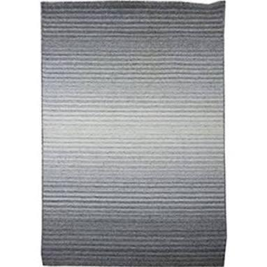 Rund-01-7998 79x98 Grey 80% Viscose /art Silk Rug  Abstract