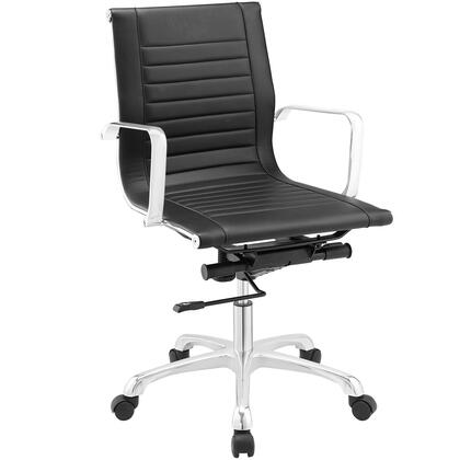 Runway Mid Back Office Chair in Black EEI-1527-BLK