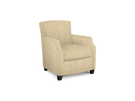 Comiskey Connection 1149-02/BE104-1 28 inch  Accent Chair with Fabric Upholstery  Tapered Wood Legs  Tight Back and Contemporary Style in Woven Geometric Old