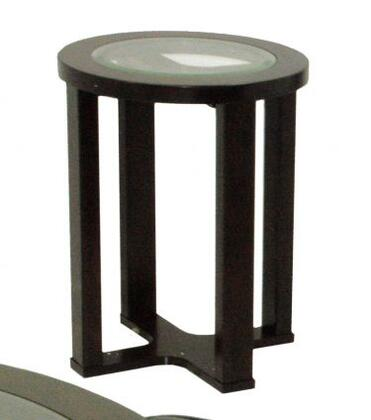 83450 Barkley Collection Round End Table With Glass Top In Dark Cherry