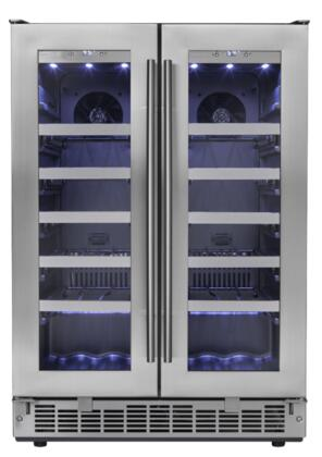 DWC047D1BSSPR 24 inch  Napa French Door Built In Wine Cooler with 4.7 cu. ft. Capacity  42 Bottles of Wine  LED Lighting  Smudge Resistant Stainless Door  in